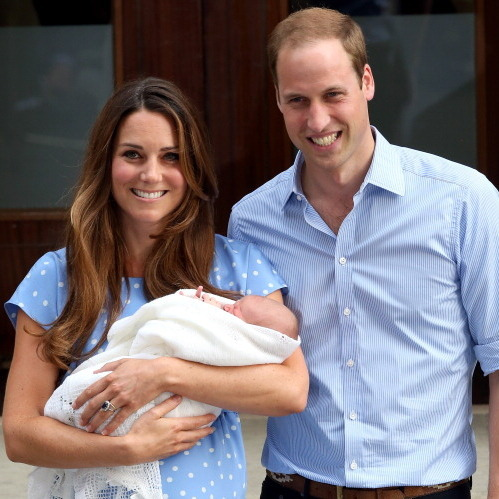 Presenting Prince George to the world in 2013, Kate could not contain her happiness - and the feeling was contagious as we collectively oohed and ahhed.