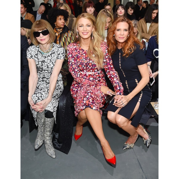 Anna Wintour, Blake Lively and Robyn Lively at Michael Kors
