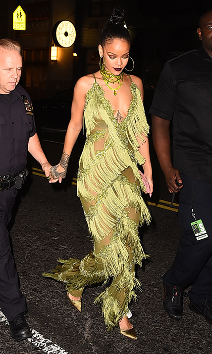 In the summer of 2016, RIRi fringed out for a night of clubbing in Soho. 