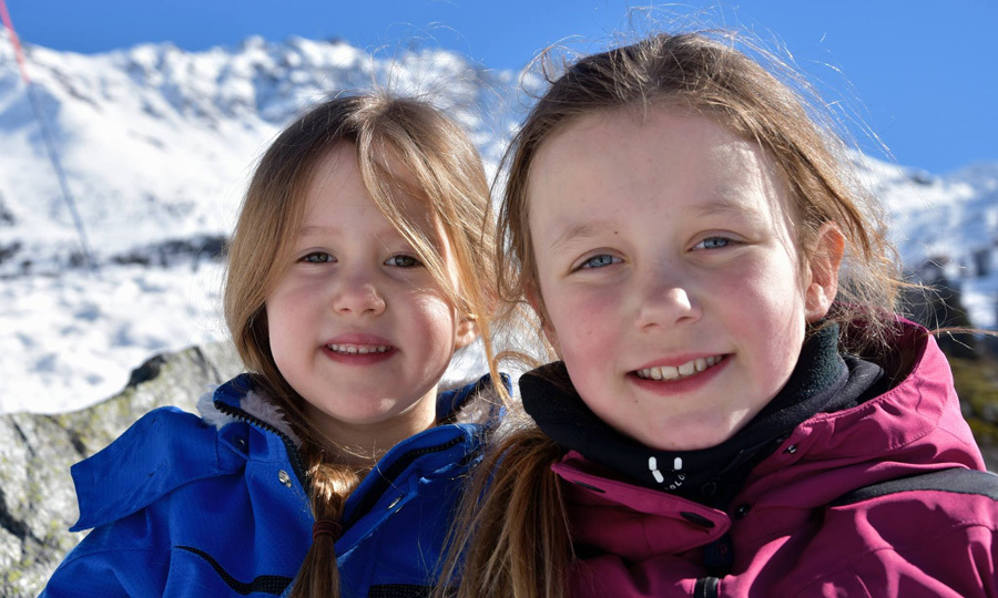 Sisterly love! Princess Josephine and Princess Isabella beamed as they smiled for a tender sibling photo during their winter holiday.