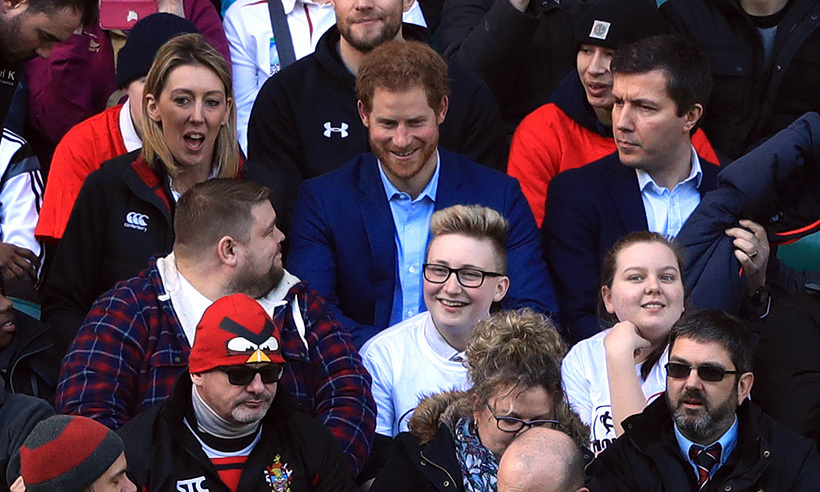 Prince Harry Makes Surprise Appearance At England Rugby