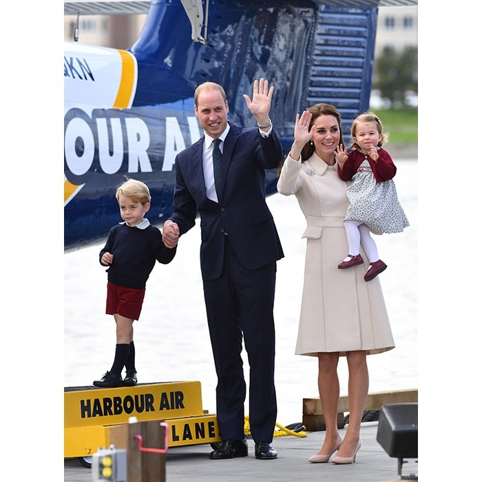 Prince William and his family were all smiles as they waved goodbye to Canada. 
