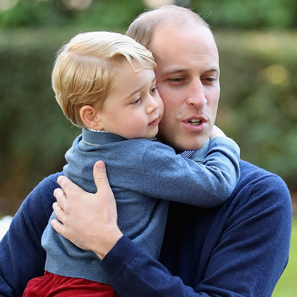 Where William shared a special moment with his little boy. 