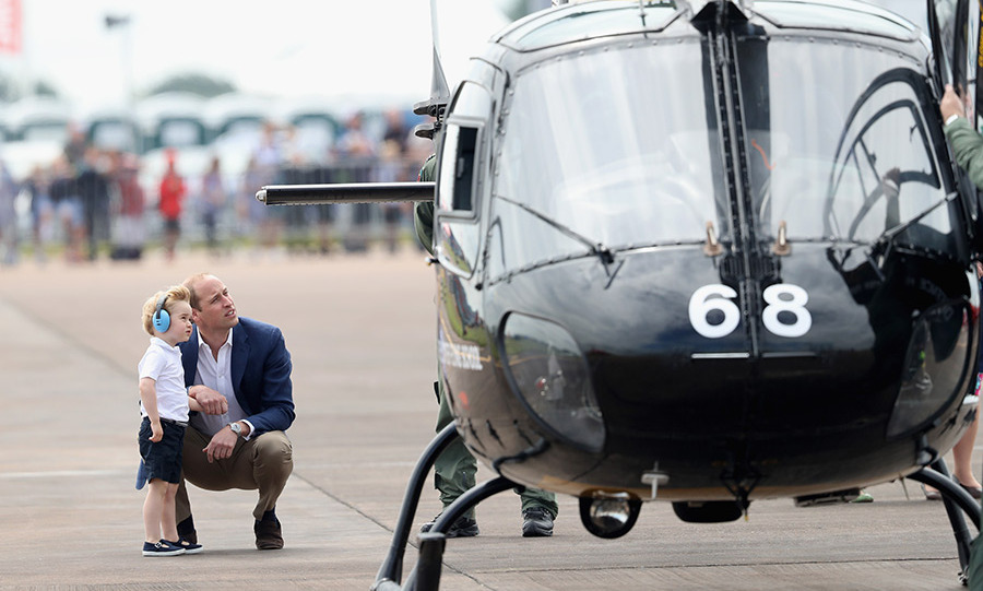 In July 2016, William got to share his love for flying with George during a visit to the RAF Fairford in Gloucestershire.