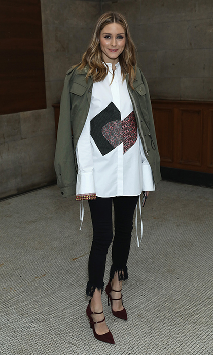 Olivia Palermo was spotted making the rounds at LFW, hitting the Emilia Wickstead show among others.