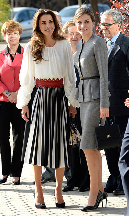 The two royals together during the 2015 visit in Madrid. Photo: Getty Images