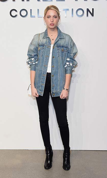 Princess Olympia of Greece donned classic denim for the Michael Kors Fall 2017 runway show at New York Fashion Week. 