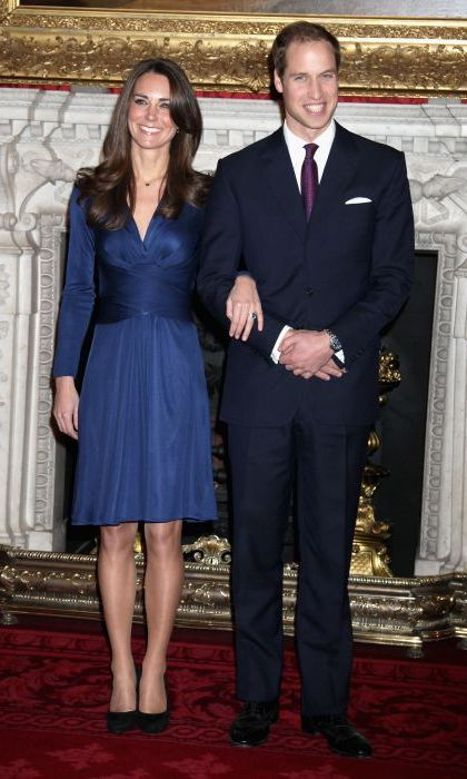 Kate wore an Issa wrap dress to announce her engagement to Prince William.