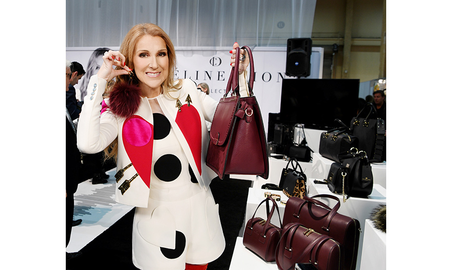 Celine shows off some of her creations. 