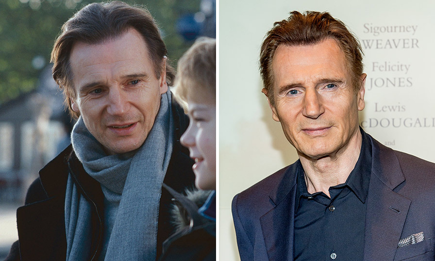 <h3>Liam Neeson as Daniel.</h3><p>Since <em>Love Actually</em>, Liam has carved out a career as an action star in films such as <em>Non-Stop</em>, <em>Taken</em> and <em>Unknown</em>. He most recently appeared in Martin Scorsese's <em>Silence</em>, <em>A Monster Call</em> and <em>The Lego Movie</em>. In 2009, Liam tragically lost his actress wife Natasha Richardson when she suffered a skiing accident at the Mont Tremblant Resort. The couple had been married since July 1994, and have two children together, sons Michael (born June 1995) and Daniel (born August 1996).</p>