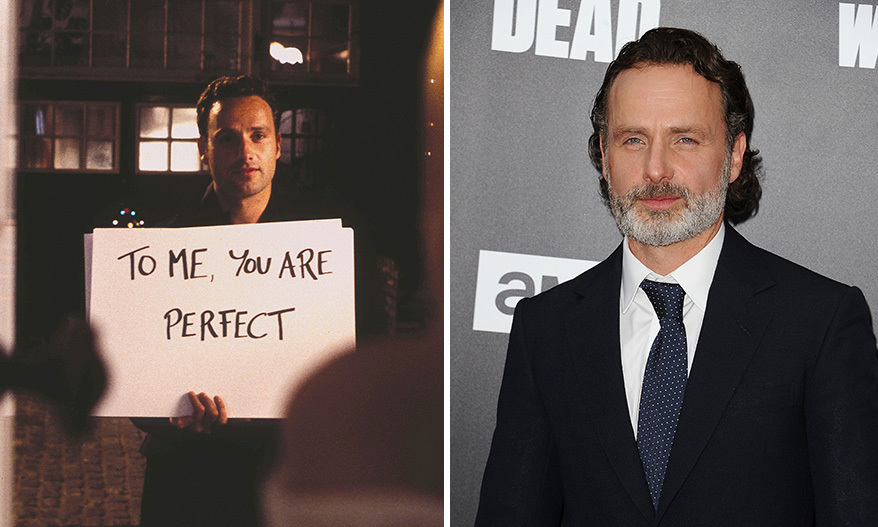<h3>Andrew Lincoln as Mark.</h3><p>Andrew has come a long way since 2003. The 43-year-old star has gained international fame playing Rick Grimes in the hit horror drama series <em>The Walking Dead</em>. Prior to that, Andrew appeared as Simon in the Channel 4 sitcom <em>Teachers</em>. Andrew has been married to Gael Anderson since June 2006. They have two children together, Arthur and Matilda.</p><p>Photo: © Getty Images</p>