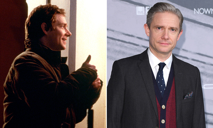 <h3>Martin Freeman as John.</h3><p>Back in 2003, Martin was best known for playing Tim in <em>The Office</em>. But he went on to secure two roles that would boost his career even further: as Bilbo Baggins in the <em>Hobbit</em> franchise, and playing Dr John Watson alongside Benedict Cumberbatch's Holmes in the hit BBC series <em>Sherlock</em>. Off screen, Martin recently confirmed the amicable end of his long-term relationship with <em>Sherlock</em> co-star Amanda Abington, mother of his two children.</p>
