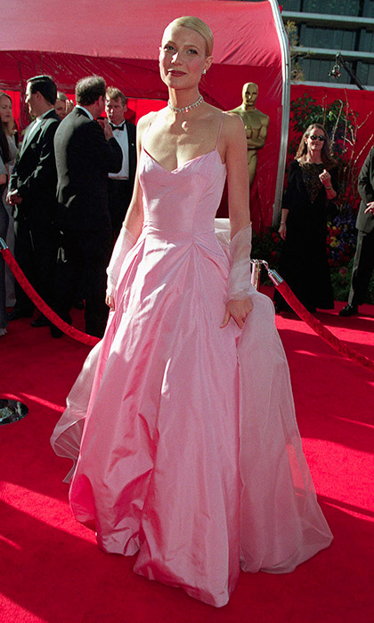 "<strong>Gwyneth Paltrow in Ralph Lauren, 1999</strong><br><br>The rise of Gwyneth as a bona fide A-lister and my own burgeoning sense of style happened to converge at the height of the 1990s, so the pink Ralph Lauren gown she wore to the 1999 Academy Awards will always be the most memorable. The spaghetti straps! The starchy taffeta! The matching shawl! It's all so perfectly '90s and exactly what I dreamed of wearing to prom. Gwyneth recently revealed that she saved the gown for her daughter Apple, although she conceded it may require some adjustments: ""Maybe she'll do a <em>Pretty in Pink</em> thing and resew it!""<br><br><strong>Charlotte Herrold @FLAREfashion</strong>"