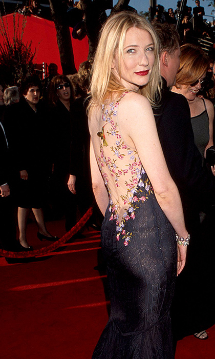 <strong>Cate Blanchett in John Galliano, 1999</strong><br><br>The two-time Oscar winner always looks gorgeous on the red carpet. But I will always love the beautiful John Galliano gown she wore to her first ever Academy Awards (and for her first nomination, for <em>Elizabeth</em>). She brought sexy to the back long before it was a trend, with beautiful appliqués of flowers and hummingbirds that looked like tattoos.<br><br><strong>Chris Daniels @HelloCanada</strong>