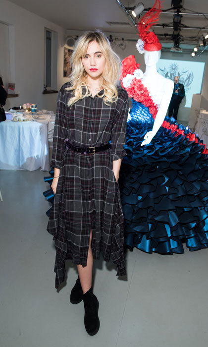 Suki Waterhouse celebrated Milan Fashion Week with British Airways in Milan at an exclusive afternoon tea party.