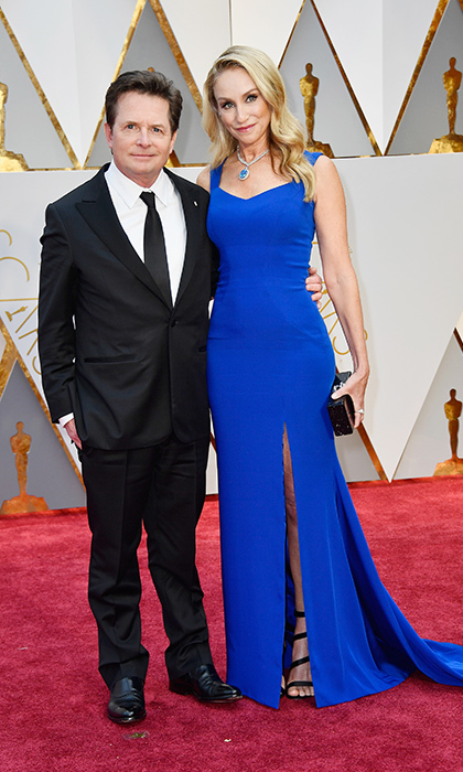 Michael J. Fox and wife Tracy