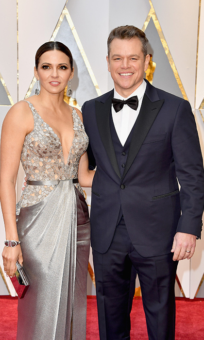 Matt Damon and his wife Luciana