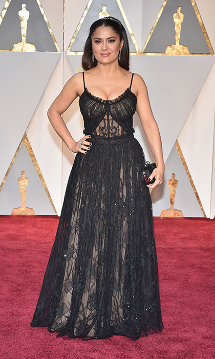 <h3>Salma Hayek in McQueen</h3><p>Photo: © Getty Images</p>