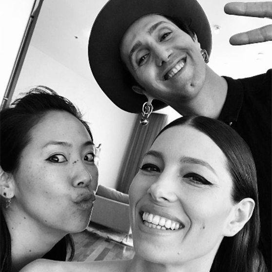 "<p>Another star giving fans a glimpse inside her Oscar preparations was Jessica Biel. Justin Timberlake's beautiful wife posed for a black and white photo with her 'glam squad' ahead of the main event, thanking them for their assistance. ""#oscarsglamsquad aka my magicians,"" she wrote.</p><p>Photo: © Instagram</p>"