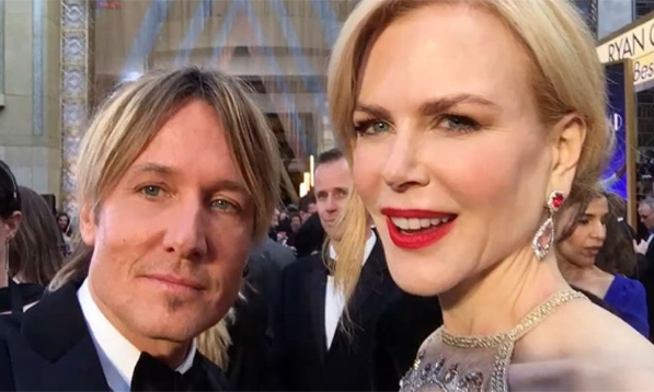 Keith Urban took fans on the Oscars red carpet, quite literally. The country singer shared a video showing him and wife Nicole Kidman arriving at the Dolby Theatre ahead of the ceremony, panning round to give a glimpse of the Oscars from an insider's perspective.