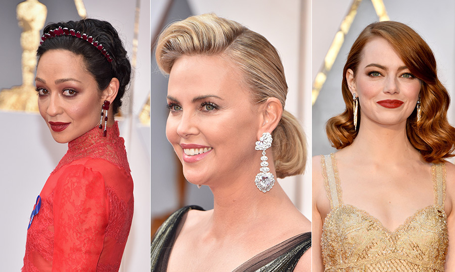While many eyes were fixated on the fashionable dresses A-list actresses wore to the 2017 Oscars, it was the jewels they donned that really caught our attention. From stunning statement necklaces to incredible earrings, diamonds and rare gemstones were a prominent part of each celeb's style on Sunday. Here are some of the most incredible. <em>-- Sarah Walker</em>