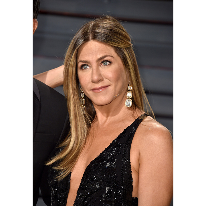 "Many a fan also rejoiced in seeing Jennifer Aniston at the event. Though she skipped the red carpet, she appeared on stage to present the ""In Memoriam"" portion of the night. Wearing an incredible black, sparkly gown she reportedly donned a mind-blowing $10 million-plus of jewelry from Lorraine Schwartz (diamond emerald cut earrings and a diamond ring). 