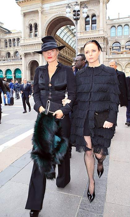 Kate Moss and Stella McCartney also attended the service for the late Vogue Italia editor.