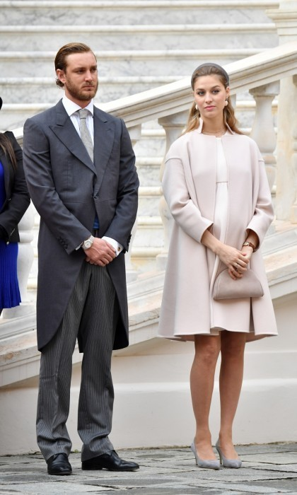 Beatrice showed off her growing baby bump in November at Monaco National Day.