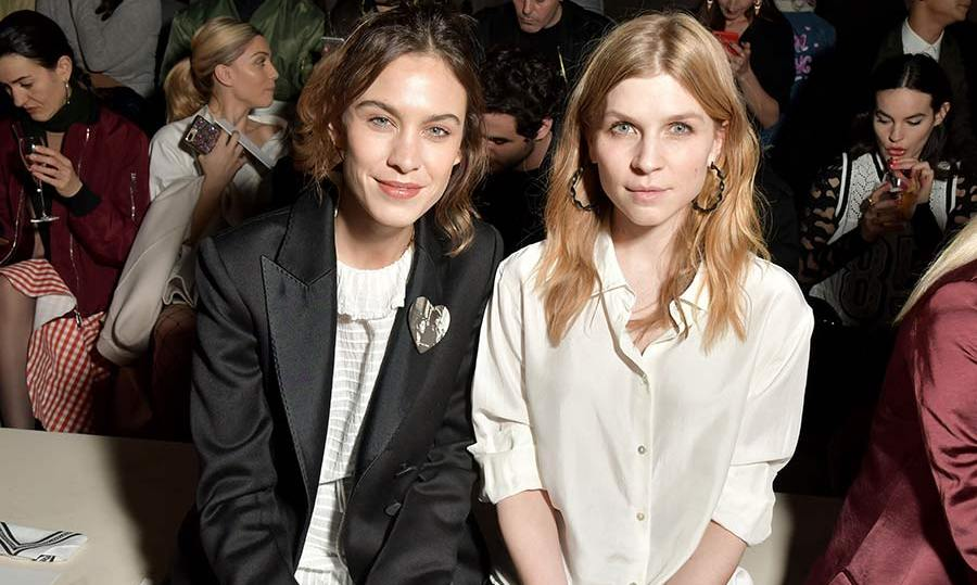 Alexa Chung and Clemence Poesy were among the famous faces on the front row at the H&M Studio show.