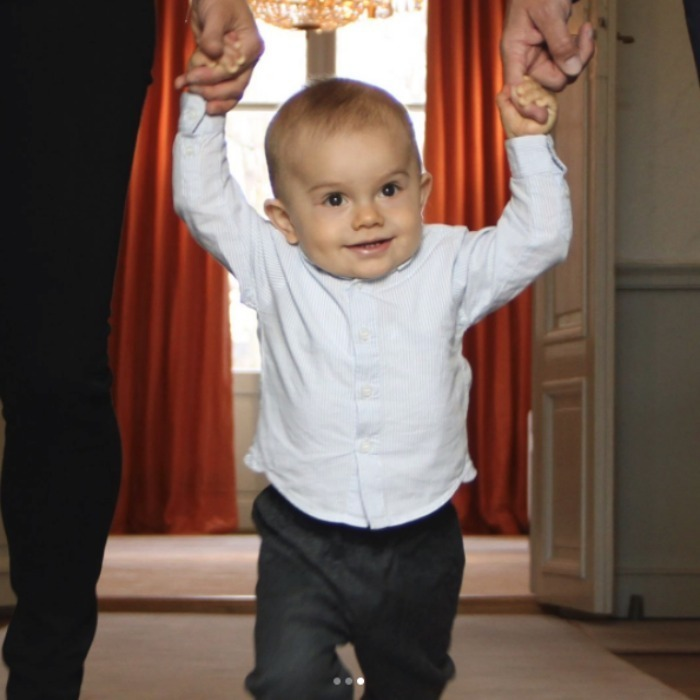 The new portraits show Prince Daniel and Princess Victoria's son taking some early steps. 