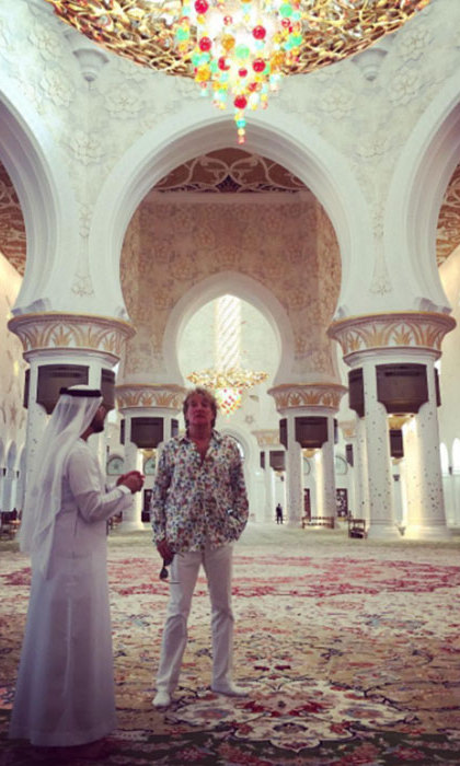 The couple also visited the Sheikh Zayed Grand Mosque.