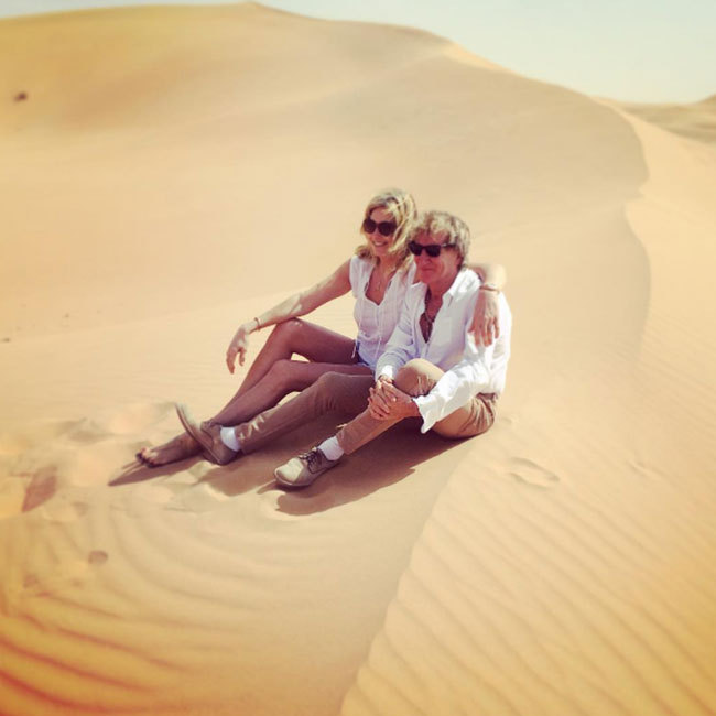 Sir Rod Stewart and wife Penny Lancaster have been enjoying a fun-filled trip in Abu Dhabi.
