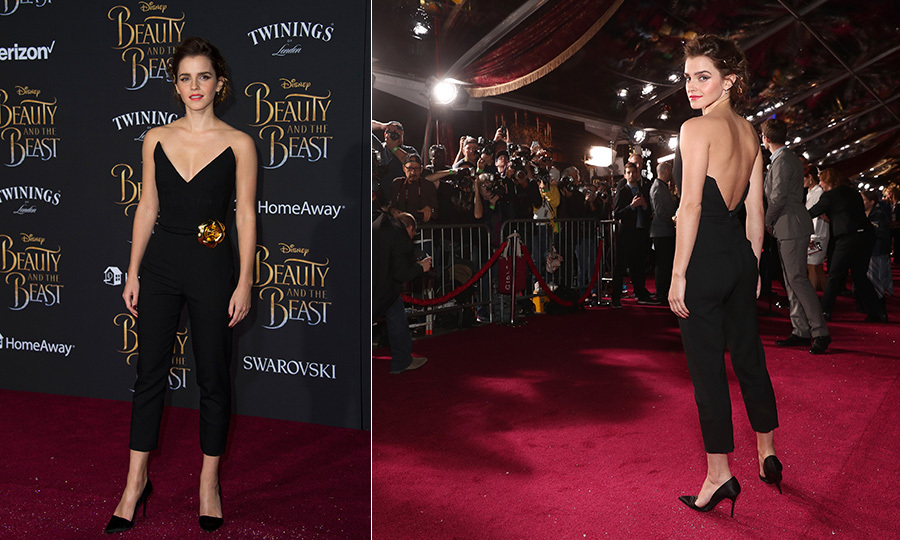 Emma's Oscar De La Renta jumpsuit proved to be a real standout look at the Hollywood premiere of her Disney flick.