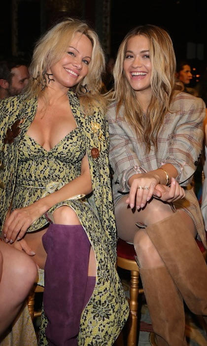 Pamela Anderson and RIta Ora at Vivienne Westwood