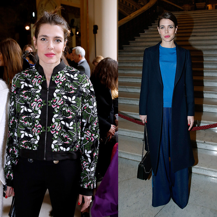 Monaco's Charlotte Casiraghi was spotted at Giambattista Valli (L) and Stella McCartney. 