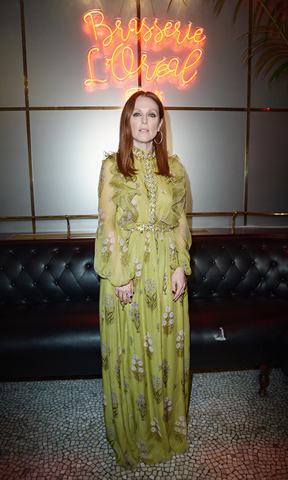 Julianne Moore at a special L'Oreal dinner during PFW. 