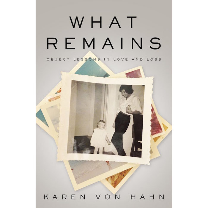<h3><em>What Remains</em> by Karen Von Hahn</h3><p>Through objects — a string of pearls, a blue bottle, a silver satin sofa — the veteran style writer remembers the glamorous and maddening mother who presided over her privileged childhood in 1970s and '80s Toronto. April 9.</p>