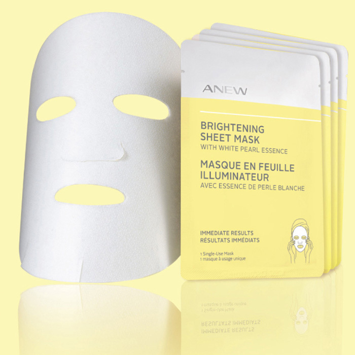 <p>Anew Brightening Sheet Mask with White Pearl Essence, $30, <em>avon.ca</em></p>