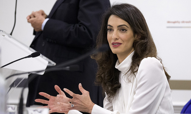 Amal Clooney on how George Clooney's fame helps her legal work