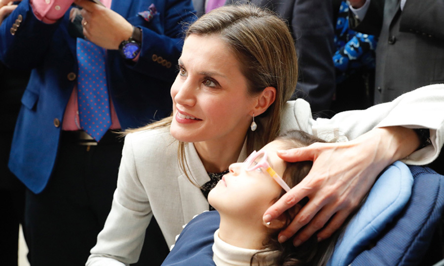 "Queen Letizia presided over the official ceremony of the ""World Rare Disease Day,"" whose motto this year is ""Research is our hope."" While at the event, the Spanish royal met with a young girl.