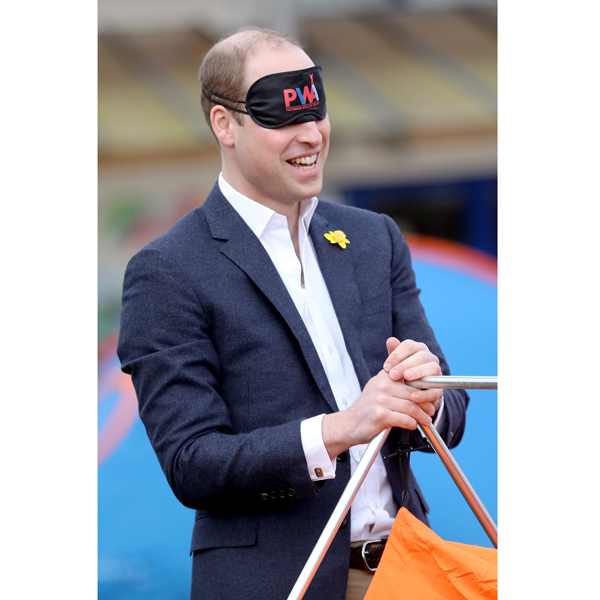 "Prince William found himself pitching a tent blindfolded, as he participated in activities for the SkillForce Prince William Award launch in Wales. While being blindfolded for a trust exercise, the Duke said, ""It's nice to be here in the sunshine.""