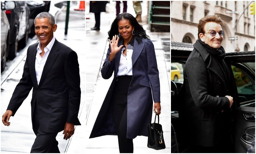 <strong>Mar. 10:</strong> Rockstars! Barack and Michelle Obama continued to show us how amazing their post-presidential life is by meeting Bono for lunch in New York City. The former president and first lady sat down with the U2 frontman at Upland restaurant, a famous brasserie. 