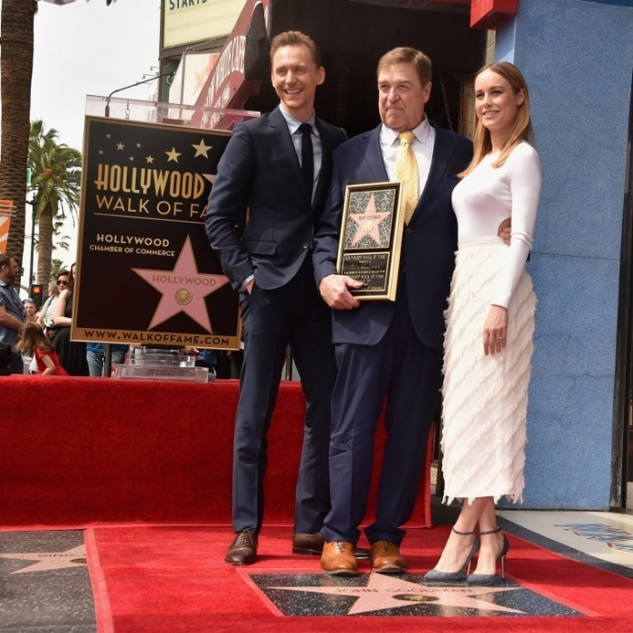 <strong>Mar. 10:</strong> John Goodman was joined by his <em>Kong</em> co-stars, Tom Hiddleston and Brie Larson, as he was honoured with the 2,604th star on The Hollywood Walk of Fame in California. 