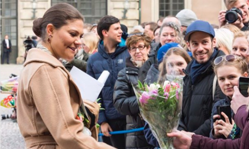 Crowds of well-wishers gathered at the Swedish Royal Palace to wish Princess Victoria a happy name day on Sunday (Mar 12). The future queen was joined by her husband Prince Daniel and their children, Princess Estelle and Prince Oscar. 