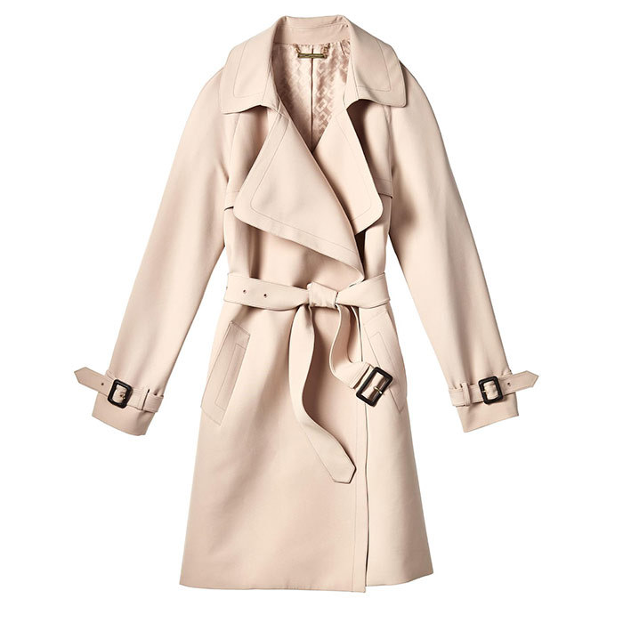 <p>Blush Trench Coat, $299, <em>winners.ca</em></p>