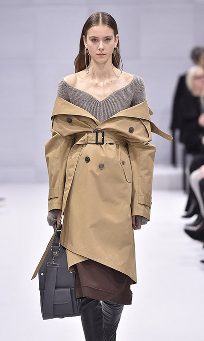 "<h3>JACKET: SHRUG IT OFF</h3><p>Wearing your jacket – be it a bomber, trench or moto – the traditional way, you know, on your shoulders, is so 2016. Designers like Balenciaga, Monse and Diane Von Furstenberg sent models down the runway this season with their latest outerwear designs, slung and draped dramatically off their shoulders. Street-style stars copied the look outside Fashion Week tents, and celebrities including <strong><a href=""/tags/0/kim-kardashian/"" target=""_blank"">Kim Kardashian</a></strong>, <strong><a href=""/tags/0/gigi-hadid/"" target=""_blank"">Gigi Hadid</a></strong>, <strong><a href=""/tags/0/rihanna/"" target=""_blank"">Rihanna</strong></a> and <strong><a href=""/tags/0/kate-bosworth/"" target=""_blank"">Kate Bosworth</strong></a> have all been seen rocking the shoulder-baring style. </p><p>Photo: &copy; Getty Images</p>"