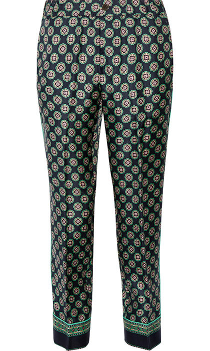 <p>Cropped Silk Pant in Foulard Print, $158, <em>jcrew.com</em></p>