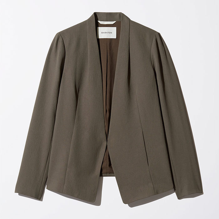 <p>Babaton Keith Jacket in Kohl, $195, <em>aritzia.com</em></p>