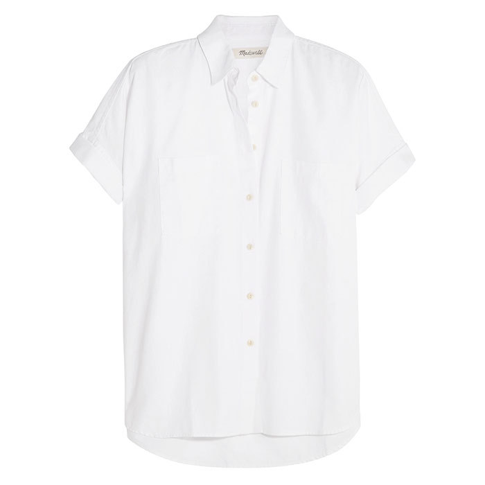 <p>White Cotton Courier Shirt $91, <em>madewell.com</em></p>
