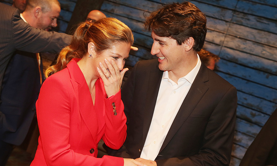 Canadian PM Justin Trudeau attended with his wife Sophie.